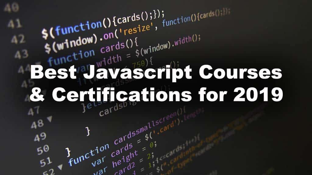 best courses for learning javascript online