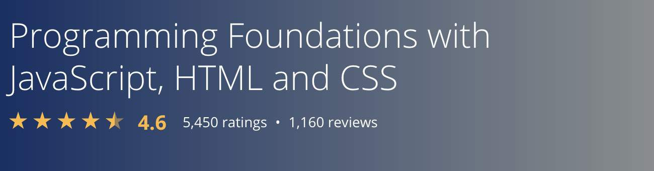 programming foundations from Coursera