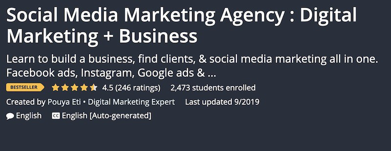 social media marketing agency for business